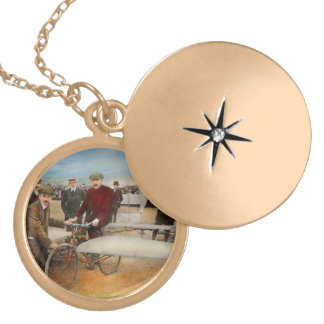 Plane - Odd - Easy as riding a bike 1912 Gold Plated Necklace