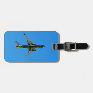 Plane on a travel tag tags for bags