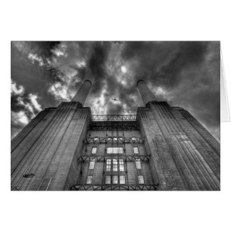 Plane over Battersea Power Station, London Greeting Card