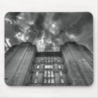 Plane over Battersea Power Station, London Mouse Pad