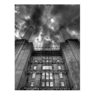 Plane over Battersea Power Station, London Postcard
