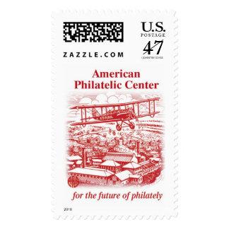 Plane over Bellefonte - Red Postage Stamp