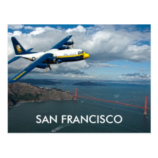 Plane over the Golden Gate Bridge, San Francisco Postcard