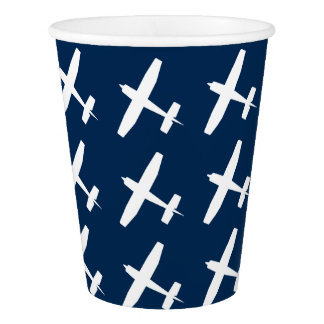Plane paper cup