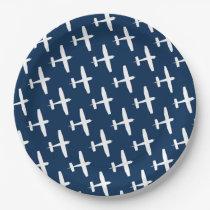 Plane pattern ı Party Paper Plates