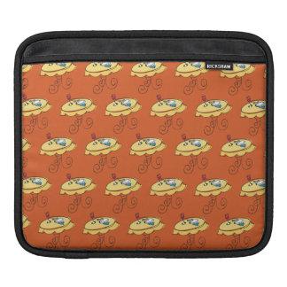 Plane pattern orange iPad sleeves