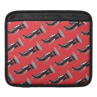 Plane pattern red iPad sleeves