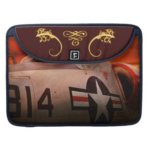 Plane - Pilot - Airforce - Go get em Tiger Sleeve For MacBooks