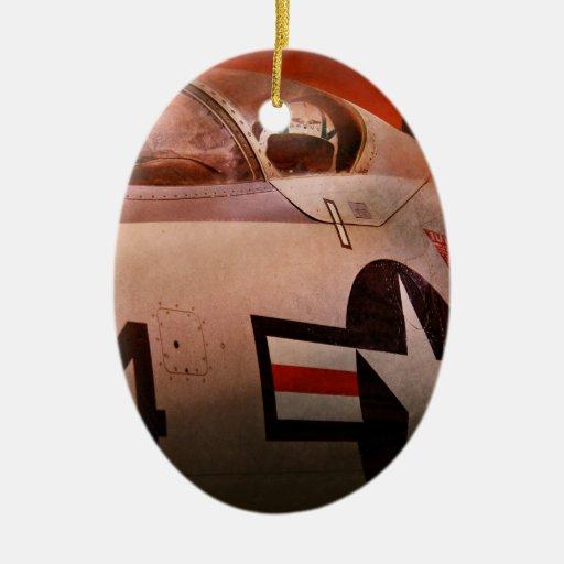 Plane - Pilot - Airforce - Go get em Tiger Christmas Ornaments