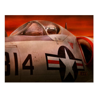 Plane - Pilot - Airforce - Go get em Tiger Postcard