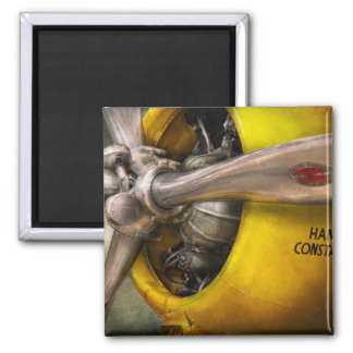 Plane - Pilot - Prop - Twin Wasp 2 Inch Square Magnet