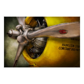 Plane - Pilot - Prop - Twin Wasp Print