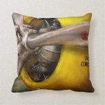 Plane - Pilot - Prop - Twin Wasp Throw Pillows