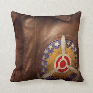 Plane - Pilot - The flight jacket Throw Pillow