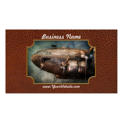 Plane - Pilot - The flying cloud Business Card Template