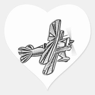 Plane - Plane (01) Heart Sticker