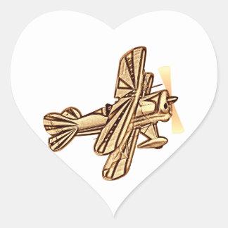 Plane - Plane (02) Heart Sticker