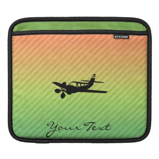 Plane silhouette iPad sleeves