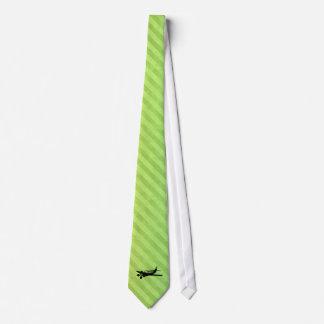 Plane silhouette neck tie