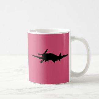 Plane silouette coffee mug