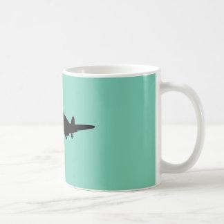 Plane silouette mug