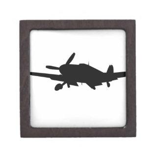 Plane silouette premium trinket box