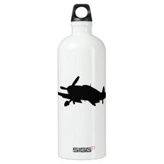 Plane silouette water bottle