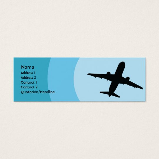 Plane - Skinny Mini Business Card