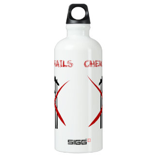 Plane spraying chemtrails crossed out SIGG traveler 0.6L water bottle