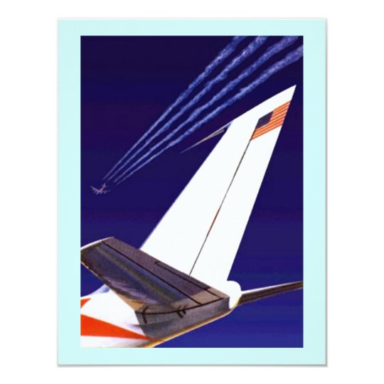 PLANE TAILS & TRAILS PARTY INVITATION EZ2CUSTOMIZE