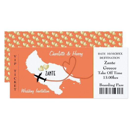 Plane Ticket Wedding Invitations: Airline Ticket Invitations & Announcements