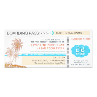 plane tickets boarding pass save the date design custom announcement