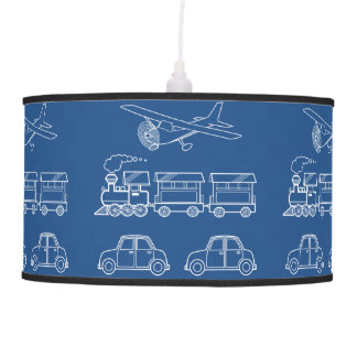 Plane, Train and Car Design ~ editable background Ceiling Lamp