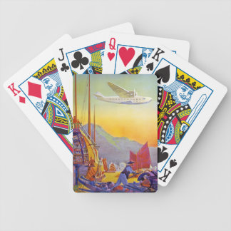 Plane Transpacific Flight Asia Vintage Travel Bicycle Playing Cards