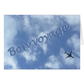 Plane Travel Bon Voyage Card