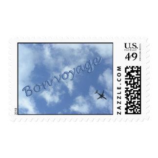 Plane travel Bon Voyage Postage