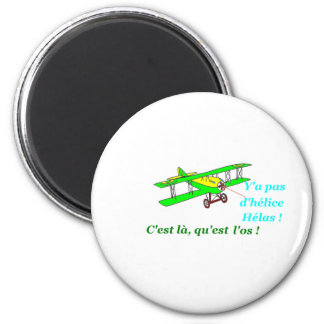 PLANE WITHOUT PROPELLER 1.PNG 2 INCH ROUND MAGNET