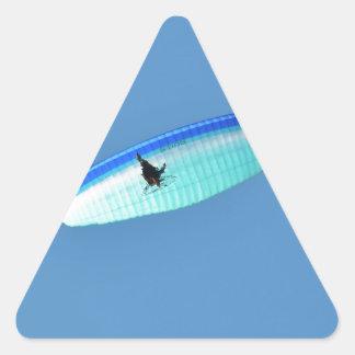 Planeador accionado de Para Pegatina Triangular