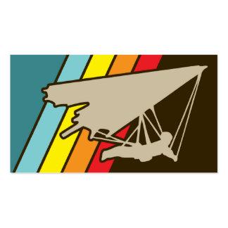 planeador de caída retro plantillas de tarjetas de visita