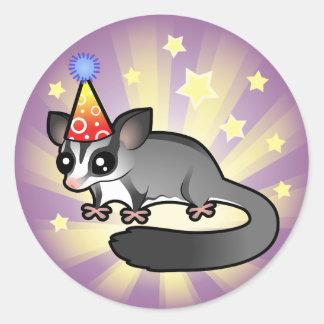 Planeador del azúcar del cumpleaños pegatina redonda