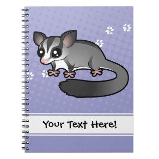 Planeador del azúcar del dibujo animado spiral notebook