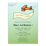 Planeador - fiesta de cumpleaños Invitation-3 Anuncio