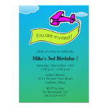 Planeador - fiesta de cumpleaños Invitation-5 Comunicado