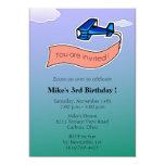 Planeador - fiesta de cumpleaños Invitation-6 Comunicados