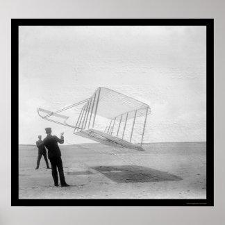 Planeador Wilbur y Orville 1901 de la prueba Poster