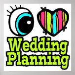 Planeamiento brillante del boda del amor del coraz posters