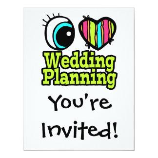 """Planeamiento brillante del boda del amor del invitación 4.25"""" x 5.5"""""""