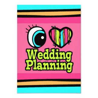 """Planeamiento brillante del boda del amor del invitación 4.5"""" x 6.25"""""""
