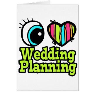 Planeamiento brillante del boda del amor del tarjeta de felicitación