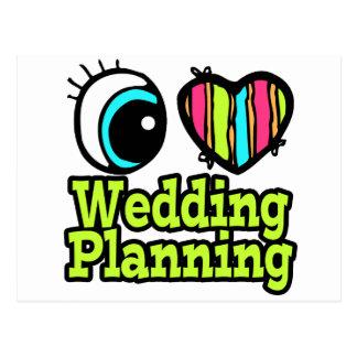 Planeamiento brillante del boda del amor del tarjeta postal